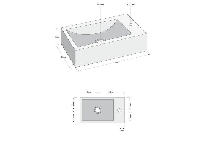 Hardstenen fonteinset Hiroko 40x23x11 cm