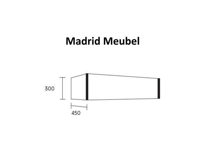 Badkamermeubel BWS Madrid Dark Brown 120 cm met Massief Topblad en Keramische Waskom Dubbel (0 kraangaten)