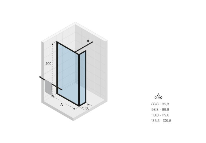 Inloopdouche Riho Lucid GD402 Verstelbaar Aluminium 200x120x30 L cm Mat Wit