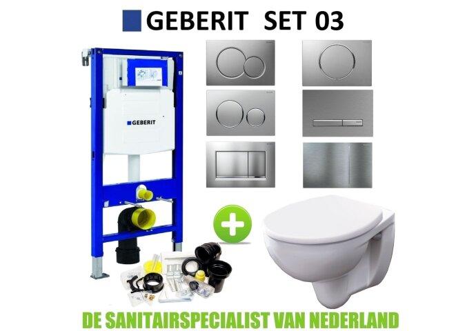 Geberit UP320 Toiletset set03 Geberit Econ 2.0 met Sigma drukplaat