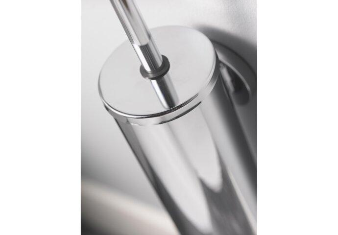 Toiletborstelset Haceka Aqualux PRO2000 met Deksel Chroom