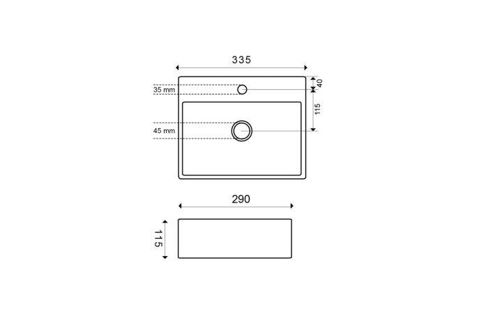 Fonteinset Boss & Wessing Star 33.5x29x11.5 cm Carrara
