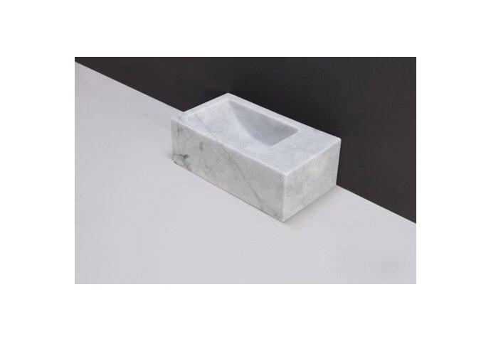 Fontein Forzalaqua Venetia Xs Carrara Gepolijst 29X16X10 cm Zonder Kraangat Rechts