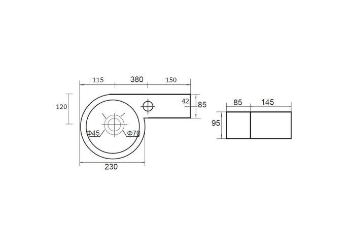 Fontein Best Design Step 38x23cm (Kraangat Rechts) | Tegeldepot.nl