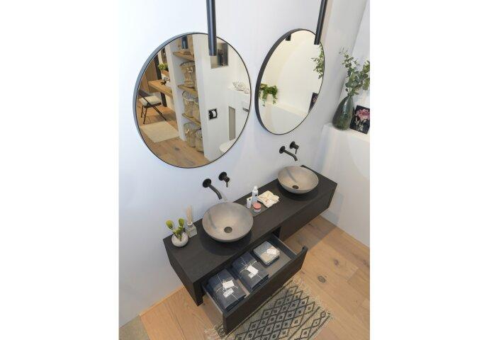 Spiegel LoooX Mirror Black Line Round Ø 80cm