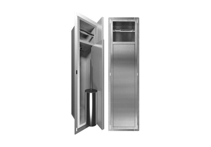 Inbouw Toiletrolhouder LoooX Closed CL7 Met Closetborstel RVS