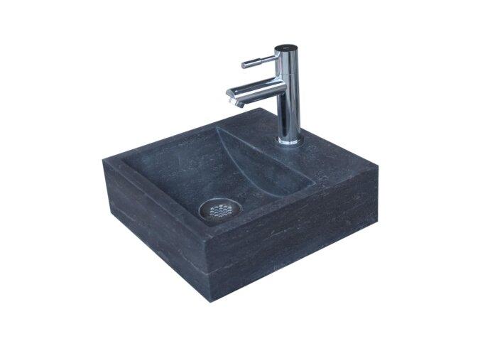 Fontein Sanilux Square Hardsteen 30x30x10cm Vierkant met kraangat