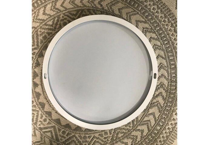 Ink Spiegel Rond Mat Wit Aluminium Kader (Alle Maten Beschikbaar)