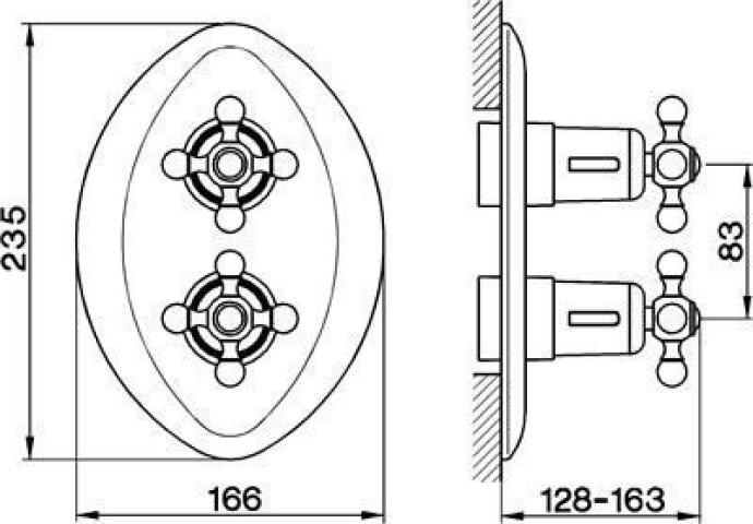 Cisal Arcana Ceramic afdekset Inbouw Thermostaat brons AC00300027