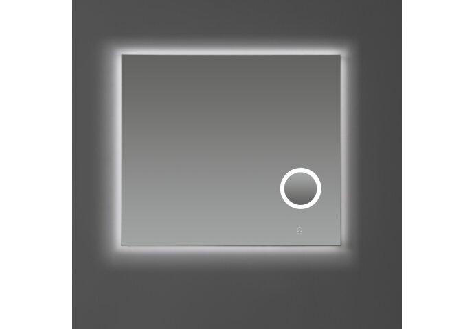 Badkamerspiegel Sanilux met Dimbare LED-Verlichting en Make-Up Spiegel 80x70x2,5 cm
