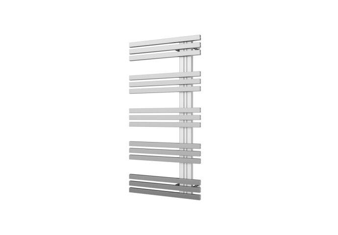 Designradiator Plieger Inox Suono Sinistra Middenaansluiting 100x50 cm 464 Watt Inox-Look