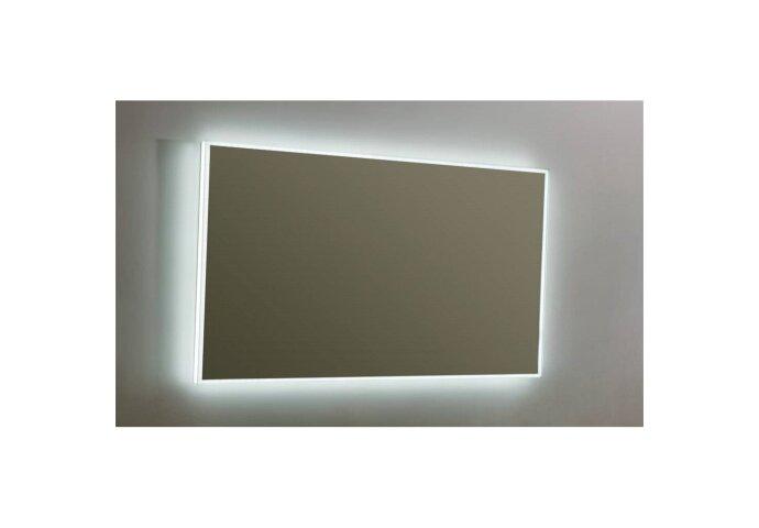 Spiegel Sanilux Mirror Infinity 120x70x4,1 cm Aluminium met LED Verlichting en Spiegelverwarming