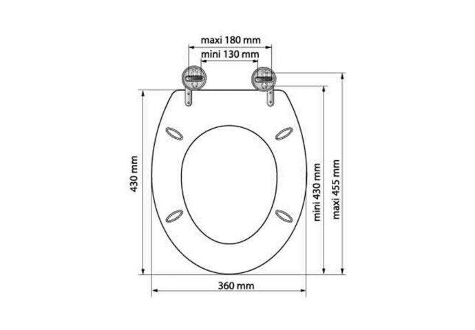 Toiletzitting Allibert Bolivia Geperst Hout 36,2x5,2x45 cm Gelakt Grijs