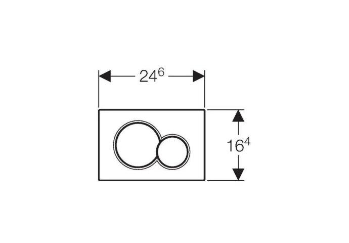 Bedieningsplaat Geberit Sigma 01 Frontbediening Mat Wit