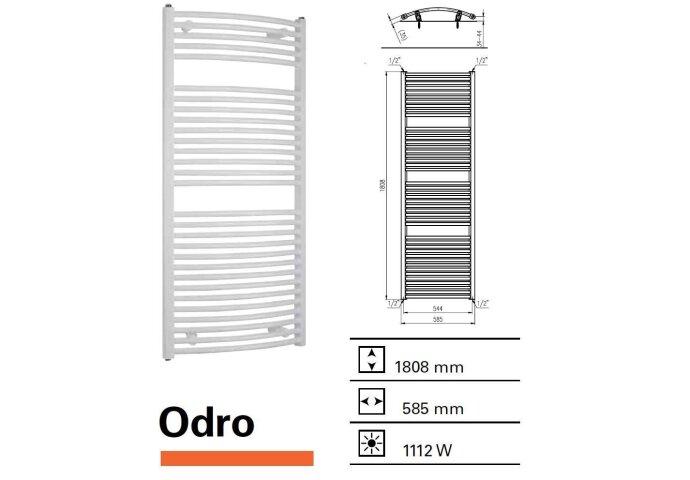 Designradiator Boss & Wessing Odro gebogen 1808 x 585 mm
