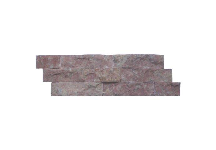 Steenstrips 01 Dark Terra Cotta (Red) Marmer 15x50 cm (Prijs per 0,5m²)
