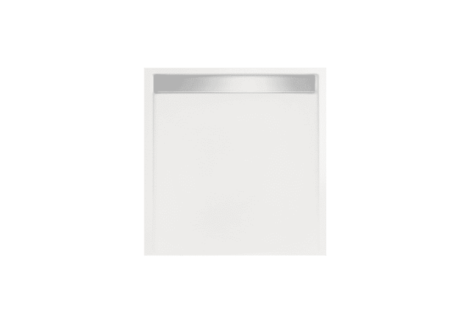 Douchebak vierkant zelfdragend Easy Tray 80x80x5cm gootcover Glans