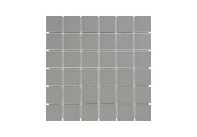 Mozaïek Barcelona 30.9x30.9cm Geglazuurd Porselein Glanzend Grijs (Prijs Per 0.95 m2)