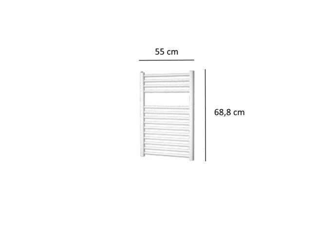 Designradiator Plieger Palermo 348 Watt Zijaansluiting 68,8x55 cm Wit