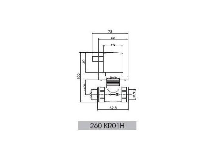 Huber Kiruna Stopkraan inbouw 260KR01HCR