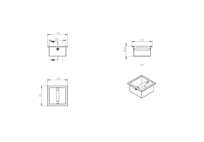 Inbouw Toiletrolhouder Boss & Wessing Mat Zwart
