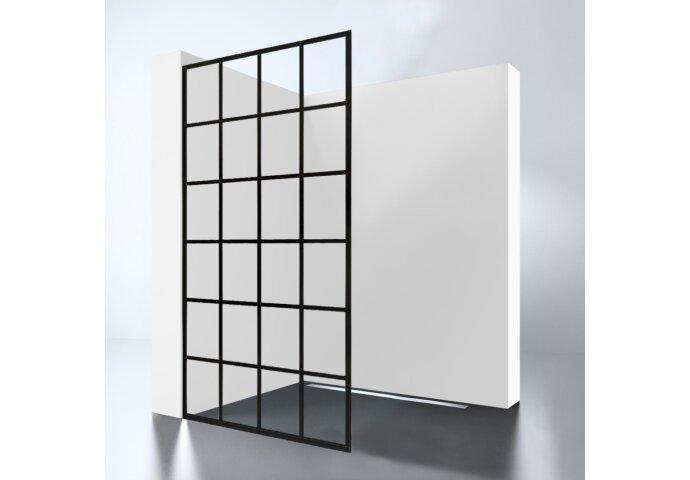 Inloopdouche Best Design Black Screen 100x200 cm 10mm Nano