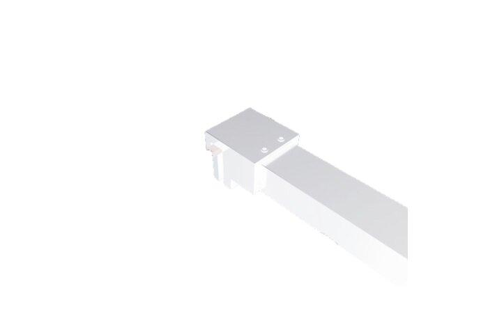 BWS Inloopdouche Pro Line Rookglas Mat Wit Profiel en Stang (ALLE MATEN)