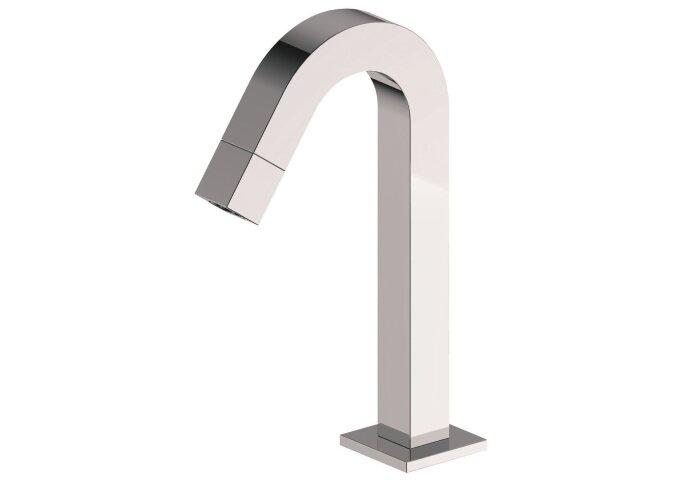 Kappa toiletkraan staand gebogen vierkant chroom 1/2