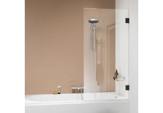 Badwand Get Wet by Sealskin 'I AM' 85x160 cm Mat Zwart 1 deel Helder Antikalk glas