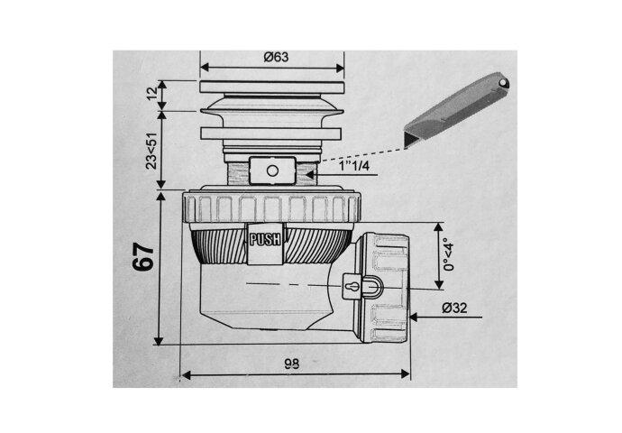 Clickwaste met Sifon Afsluitbaar Stankafsluiter Solid Surface Mat Zwart