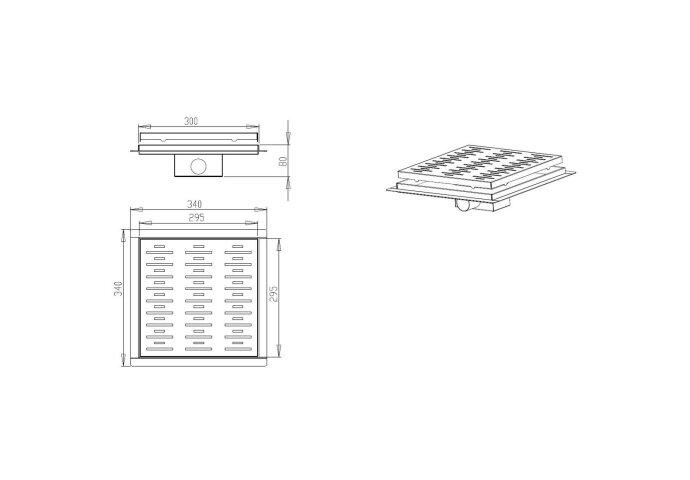 Doucheput Best Design N-Square met Flens 30x30x7.7cm RVS