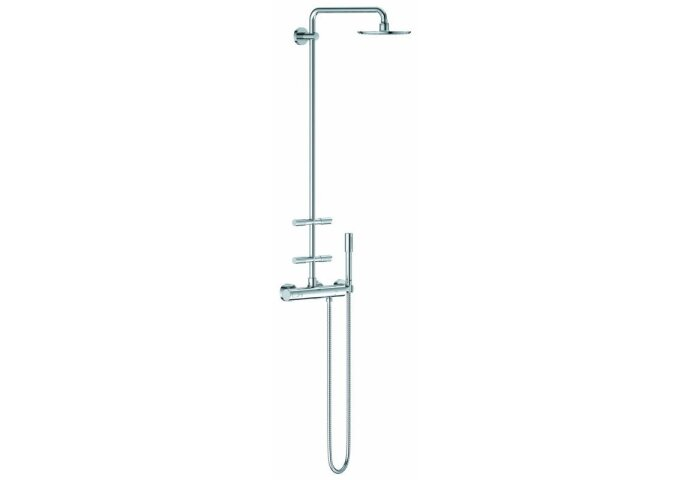 GROHE Rainshower Modern douchesysteem 210 met thermostaatkraan en zijdouches