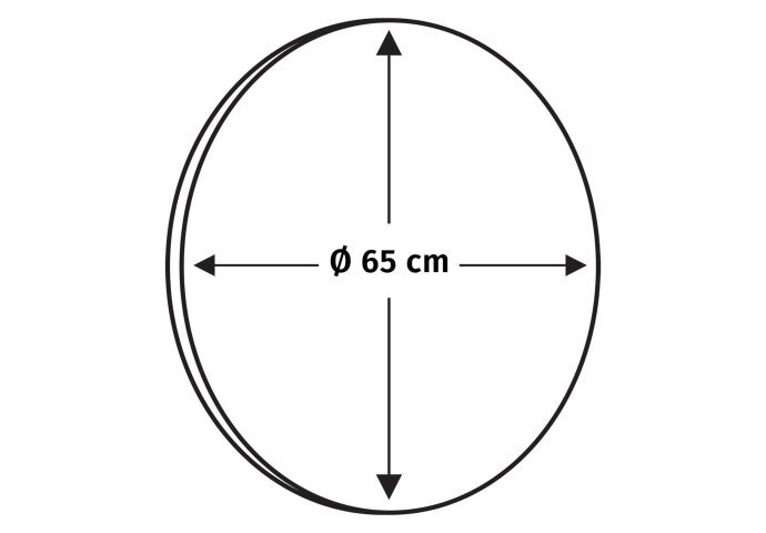 Ronde Badkamerspiegel Differnz 65 cm Mat Zwart