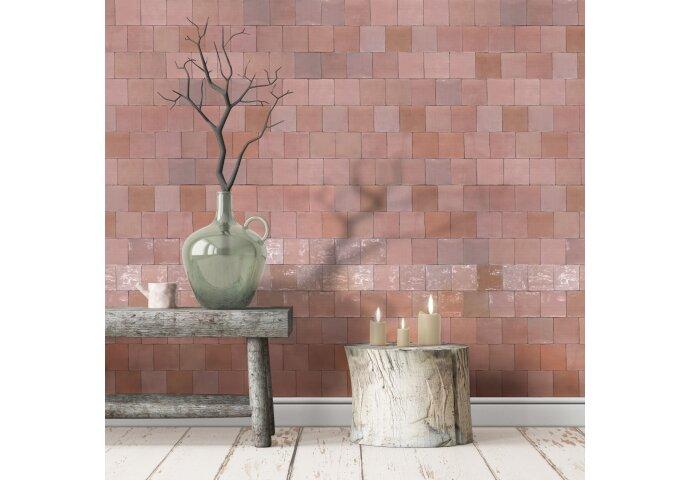 Wandtegel Grafti Artisan Rosa Brillo 13x13 cm (doosinhoud: 1,00 m2 per doos)