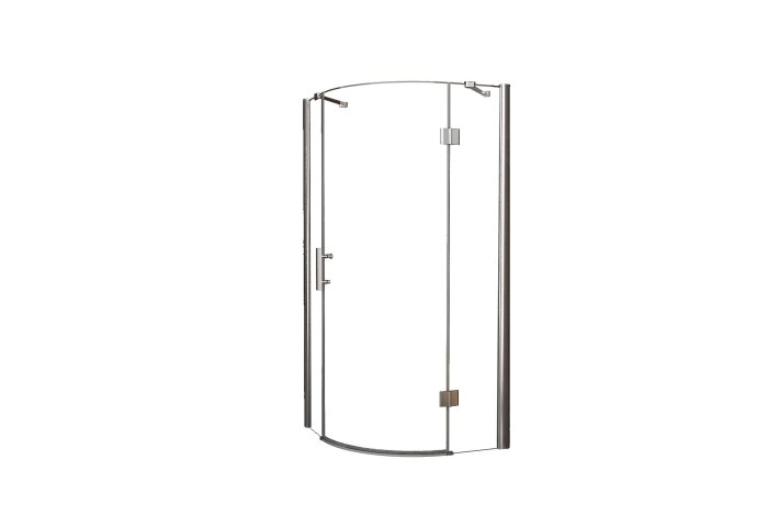 Douchecabine Wiesbaden kwartrond 1 deur RS 90x90cm 8mm NANO coating