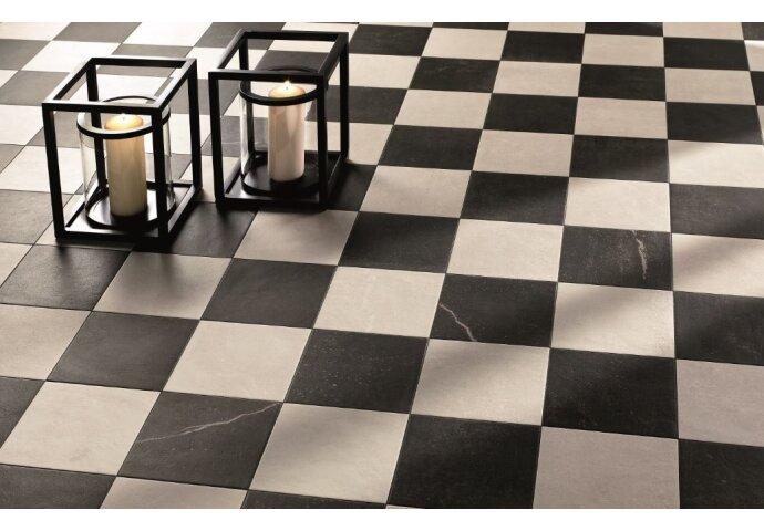 Maku 20x20 Dark en Light dambord vloer (Doosinhoud 1,2 M²)