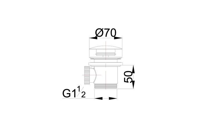Losse Clickwaste Wiesbaden Luxe Compleet 5/4 tbv Vrijstaand Bad Geborsteld Koper