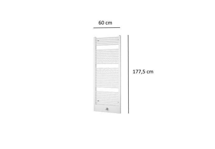 Designradiator Plieger Lucca 982 Watt Middenaansluiting 177,5x60 cm Wit