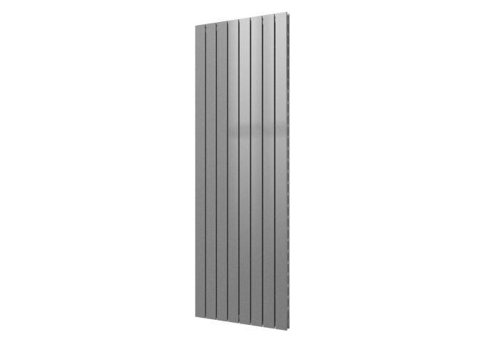 Designradiator Plieger Cavallino Retto Dubbel 1549 Watt Middenaansluiting 180x60,2 cm Zilver Metallic