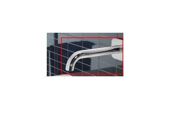 Losse uitloop Hotbath Buddy 25cm gebogen Rond RVS Look B095/25JGN