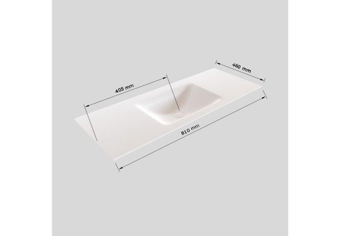 Badkamermeubel Solid Surface BWS Oslo 80x46 cm Mat Antraciet (met 1 kraangat)