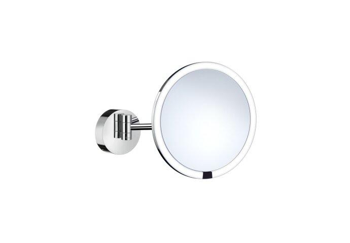 Smedbo Vergrotingsspiegel Outline Draaibaar Met LED Verlichting Diameter 21.5 cm Wit Chroom