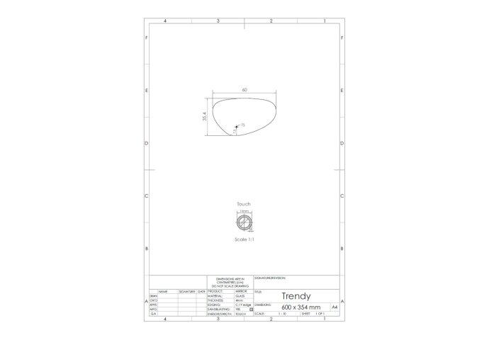 Spiegel Gliss Design Trendy Oval LED Verlichting 60cm