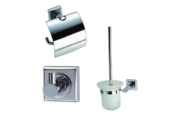 Complete toiletset Best Design Viera Metaal/Glas | Tegeldepot.nl