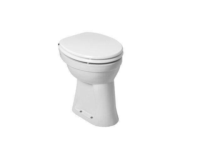 Toiletpot Wiesbaden Staand verhoogd +6 AO Wit | Tegeldepot.nl
