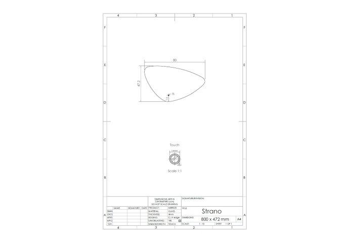 Spiegel Gliss Design Strano Organic Framework Rond Verlichting 80cm