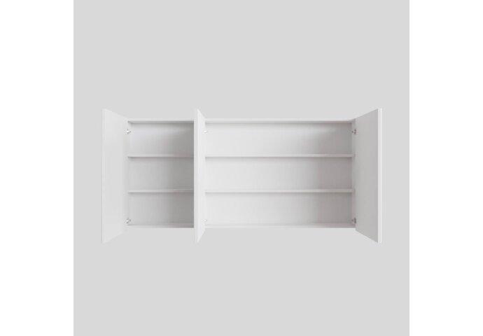 Spiegelkast Boss & Wessing Cube 150x70x16 cm 3 Deuren Mat Wit