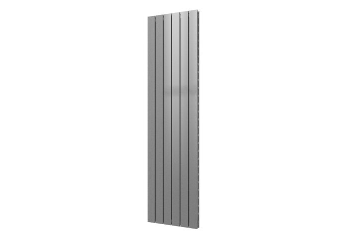 Designradiator Plieger Cavallino Retto Dubbel 1162 Watt Middenaansluiting 180x45 cm Zilver Metallic