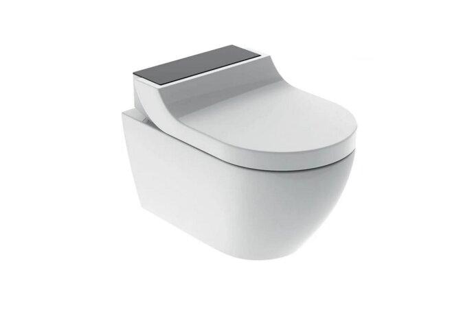 Douche WC Geberit AquaClean Tuma Comfort Compleet Rimfree Glas Zwart