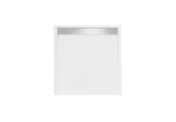 Douchebak Glans Wit Vierkant Zelfdragend Easy Tray 90x90x5cm Gootcover Mat